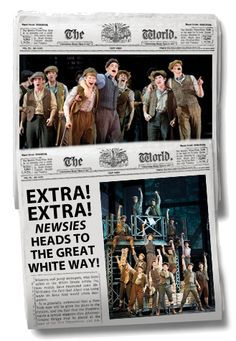 Extra! Extra! Newsies opens on Broadway tonight!
