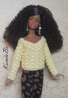 Нитки Yarn  Art  Canarias , крючок 0,9 мм или 1 мм   Схема разработана для кукол Barbie Fashionistas  и Dynamite  Girls   Конкретно эт...
