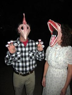 Beetlejuice couple Halloween costume idea @Amanda Snelson Prestigiacomo ...have you started making these yet???