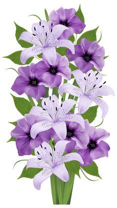 Exotic Flowers Bouquet PNG Clipart Image