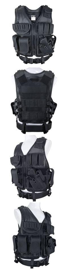 Chest Rigs and Tactical Vests 177891: Tactical Military Vest Swat Molle Assault Combat Gear Police Black Holster Ammo -> BUY IT NOW ONLY: $41 on eBay!
