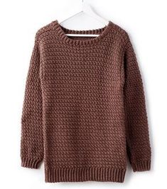 How To Make A Big Easy Crochet Pullover