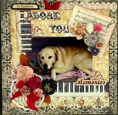 BRONSON - Family pet dog scrapbook layout