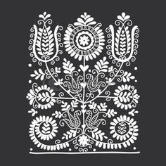 Folk Embroidery Patterns Illustration of Floral folk ornament, vector illustration vector art, clipart and stock vectors. Image - - Millions of Creative Stock Photos, Vectors, Videos and Music Files For Your Inspiration and Projects. Hungarian Embroidery, Folk Embroidery, Paper Embroidery, Learn Embroidery, Hungarian Tattoo, Indian Embroidery, Bordado Popular, Embroidery Designs, Polish Folk Art