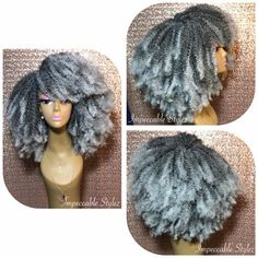 Afro Kinky Hairstyles, Kinky Curly Wigs, Afro Wigs, Human Hair Wigs, Wig Hairstyles, Kids Crochet Hairstyles, Curly Braids, Curly Afro, Curly Haircuts
