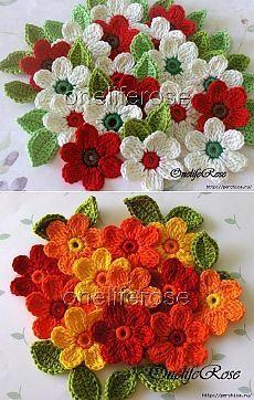 Workshops og ordninger fantastiske blomster heklet