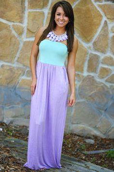 Color Me Happy Dress: Purple/Mint   Hope's