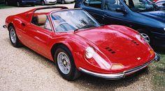 Ferrari Dino 246 GTS Spyder. Beautiful.