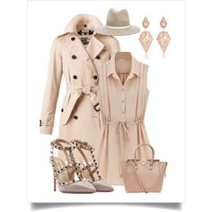 Day in pastel color by chicmisses on Polyvore featuring Burberry, Valentino, River Island and rag & bone