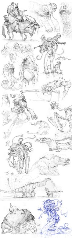 Another Pile by *Mr--Jack on deviantART    Love this compilation of character sketches- a lot of good potential for digital coloring here.