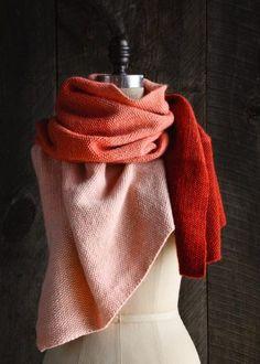 New Color! Our Cashmere Ombré Wrap in Vermilion | Purl Soho