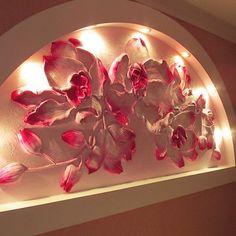 Орхидеи - Скульптура и лепка - Лепные панно и барельефы: