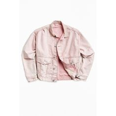 BDG Acid Wash Denim Relaxed Trucker Jacket (€62) ❤ liked on Polyvore featuring men's fashion, men's clothing, men's outerwear, men's jackets, mens vintage denim jacket, mens vintage jackets, mens acid wash denim jacket, mens pink jacket and mens denim jacket