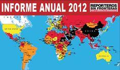 El 2012 fue un año funesto para la libertad de prensa, pues 90 periodistas fueron asesinados y 300 encarcelados y hubo numerosas detenciones, exilios,  ataques, asaltos a informadores y medios de comunicación, amenazas  y censuras en más de un centenar de países, según el Informe de la Libertad de Prensa 2012, de Reporteros Sin Fronteras.