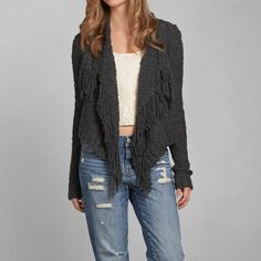 Womens Monica Fringe Coatigan | Womens Sweaters | Abercrombie.com