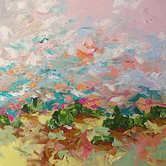 Painting Original Landscape Abstract or by lindamonfort on Etsy, $360.00