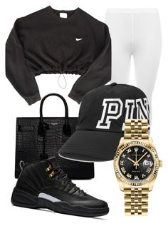 """""""Untitled #193"""" by sarajordan2993 on Polyvore featuring Yves Saint Laurent, WearAll, NIKE and Rolex"""