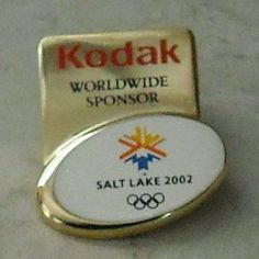Salt Lake 2002 Olympic Games Pin Kodak Worldwide Sponsor Olympics  - This Item is for sale at LB General Store http://stores.ebay.com/LB-General-Store ~Free Domestic Shipping