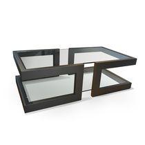 Mesa de centro / moderna / de cristal / de hierro
