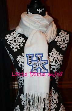 University of Kentucky  Pashmina by LottieDottieGifts on Etsy, $23.00
