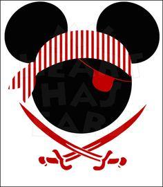 Mickey Birthday, Pirate Birthday, Pirate Party, Mickey Mouse Crafts, Mickey Mouse Head, Images Pirates, Deco Pirate, Disney Names, Disney Cruise
