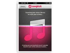 Try this super useful app, Songkick: it scans your iTunes library and lets you know in advance when your favorite bands and artists are playing live near you.