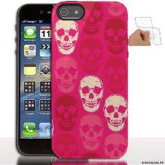 Étui iphone 5 en Silicone personnalisé Skull Rose - Coque souple - Gel - Pour Apple iPhone 5s, iPhone 5. #Silicone #Housse #etui #iPhone5s #Skull