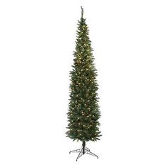Artificial Christmas Trees 117414: New Finley Home 5.5 Classic Pine Pre-Lit Clear Pencil Christmas Tree -> BUY IT NOW ONLY: $89 on eBay!