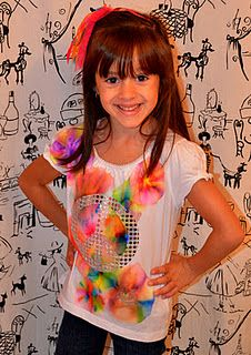 Tie Dye with sharpies and rubbing alcohol. Did this this past weekend, works great, kids had a blast!