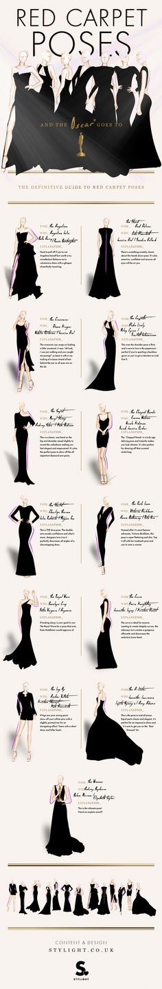 Infographic: The definitive guide to red carpet poses