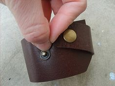 How to add snaps to leather. The Leather Cuff tutorial I SOOOO Struggle with this.....