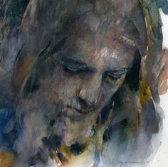 The Watercolour Log: Stan Miller Abstract Portrait, Watercolor Portraits, Portrait Art, Watercolor Paintings, Watercolours, Abstract Pictures, Art Pictures, Photos, Expressionist Portraits