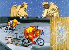 David Salle, Angels in the Rain, 1998