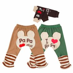 Bear Pants & Ankle Socks (3pc-Set), 51.7% discount @ PatPat Mom Baby Shopping App
