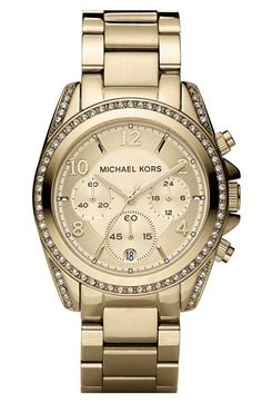 can't tell if this is stainless but if it is it's mine! <3Gorgeous - Michael Kors 'Blair' Chronograph Watch available at Nordstrom