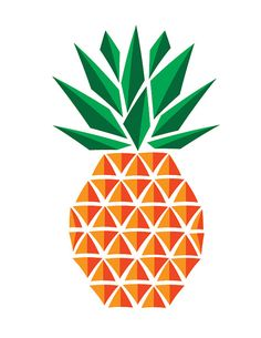 Pineapple Print, geometric, friendship, welcome by RedBirdDesignShop on Etsy