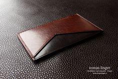 Pouzdro na kreditní karty s kapsičkou - Z kůže na zakázku česká výroba