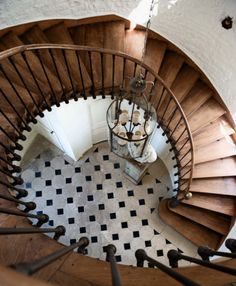 Spiral staircase ~ House Envy: A Chateau in Loire Valley | lark&linen