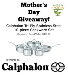 Calphalon Mothers Day Giveaway by @Seeded at the Table | Nikki Gladd