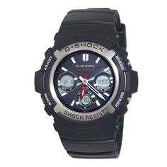 Casio Men's AWGM100-1ACR G Shock Watch Casio. $88.18. World time (29 tz/48 cities +utc), daily alarm w/snz, 1/100 sec. Stopwatch. Shock resistant, 200m water resistant, full auto el backlight. Countdown timer, 12/24 hr formats. Tough solar power, multi-band 6 atomic timekeeping (us, uk, gmn, japx2, chi). Button operation tone on/off, module: 5230