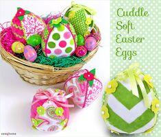 Cuddle Soft Easter Eggs - Free Pdf pattern and step by step Photo tutorial - Bildanleitung und gratis Pdf Schnittvorlage