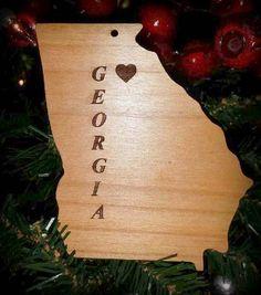Georgia State of Georgia Christmas / Holiday by BPLaserEngraving