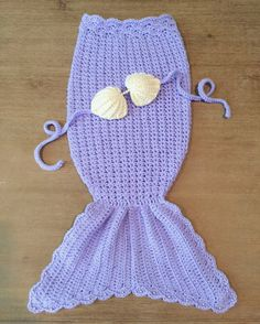 Crochet Mermaid Tail Outfit For Baby OR by YarnCreationsByKarla