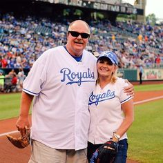 A proud Coach Reid and The Mrs. Royals Baseball, Chiefs Football, Kansas City Royals, Polo Ralph Lauren, Sports, Mens Tops, Hs Sports, Sport