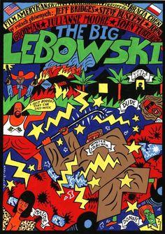 Polish Film Poster for The Big Lebowski — Andrzej Krajewski
