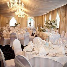 Elegant Wedding Decor; LOVE the ceiling linens