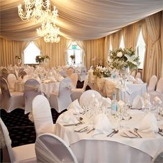 Elegant Wedding Decor; LOVE the ceiling linens