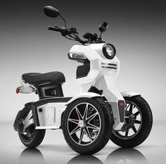 The Doohan iTank is the first electric tricycle / motorcycle with underneath side-deflecting dual front wheels in the world, and the iTank has been awarded Tricycle Motorcycle, Bicycle Sidecar, 3 Wheel Motorcycle, Electric Tricycle, Electric Scooter, Electric Vehicle, Electric Cycles, Electric Power, 3 Wheel Scooter
