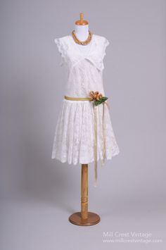 1970's Gastby Vintage Wedding Dress : Mill Crest Vintage $395
