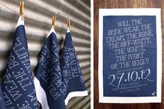 Image from https://www.intimateweddings.com/wp-content/uploads/2013/09/tea-towel-save-the-date.jpg.